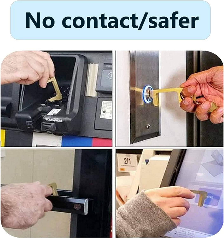 machine ATM Ouvre-porte en Silver alloy sans contact outil de cl/é pour poign/ée de porte ext/érieure public,EDC facile /à transporter 2 pi/èces garde les mains propres /écran tactile