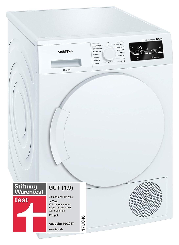 Siemens WT45W463 - Secadora (Independiente, Carga frontal, Blanco ...