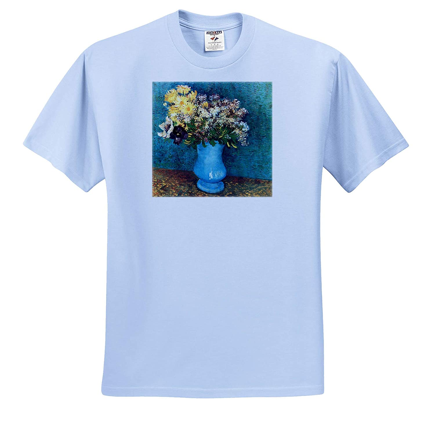 Masterpieces 3dRose VintageChest T-Shirts Van Gogh Vase with Syringas Daisies and Anemones