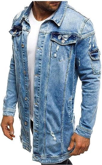 VITryst メンズホール ジュニアスリムフィットカジュアルジーンズジャケットショートデニムコート