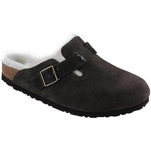 9276d33772c92 Birkenstock Boston Shearling Lined Mocha Suede Unisex Clogs Size 36N Brown