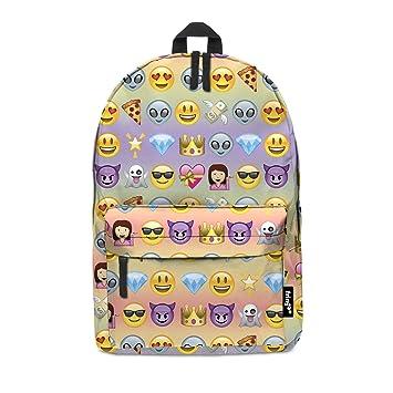Fringoo® - Mochila, cartera, bolso de mano para niños y niñas con diseño de emoticonos y emojis Rainbow multicolor EMOJI RAINBOW Regular: Amazon.es: Oficina ...