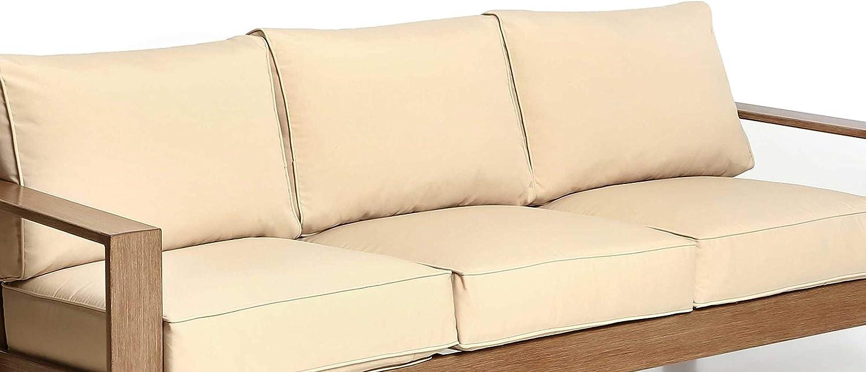 Creative Living Beige Beige-3Cushion Furniture Cushions & Pillows,Deep Seating Cushion for Patio Sofa