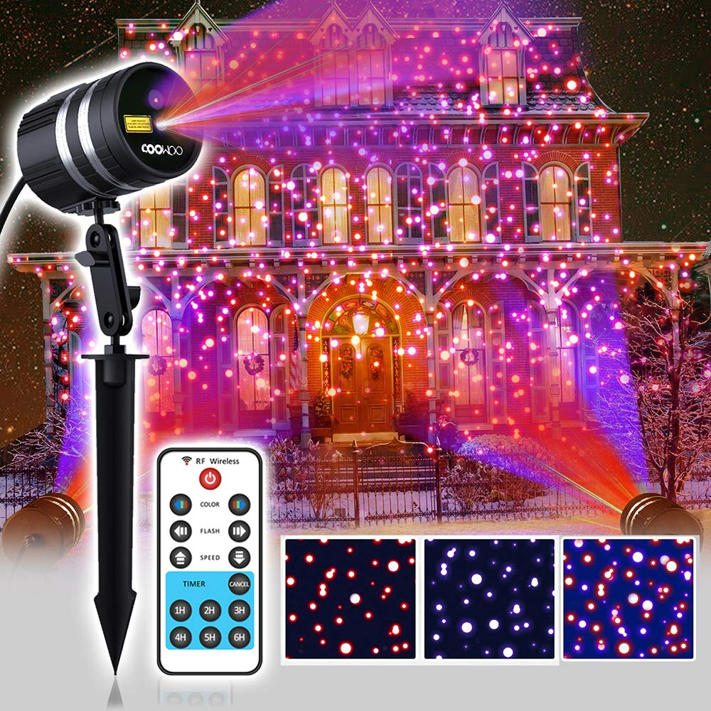Laser Christmas Light Projector, 8 Christmas Patterns + Starry Motion Laser Light Show with RF Remote Control for Indoor&Outdoor UPADALWAYS TECHNOLOGY INC.