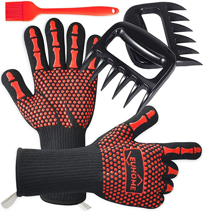 Details about  /Cute Dog Barbecue Grill Gloves Pot Holder Oven Mitts Silicone Cooking Mitt,Safe