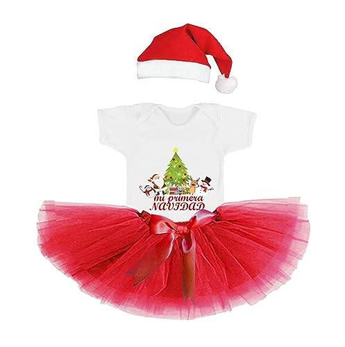 Conjunto Navidad/Bebe Niña/Recien Nacido/Traje Navideño Mi ...