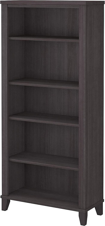Bush Furniture Somerset Tall 5 Shelf Bookcase, Storm Gray