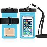 db DBPOWER Wasserdichte Hülle, Wasserfeste Handyhülle, Staubdichte und Stoßfeste Beutel Tasche mit Armband für iPhone 4/4s/5/5s/6/6s/6 plus/6s plus, Samsung Galaxy s3/s4/s5/s6, Note 4/3/2 und Andere Smartphones bis zum 6,0 Zoll (Blau)