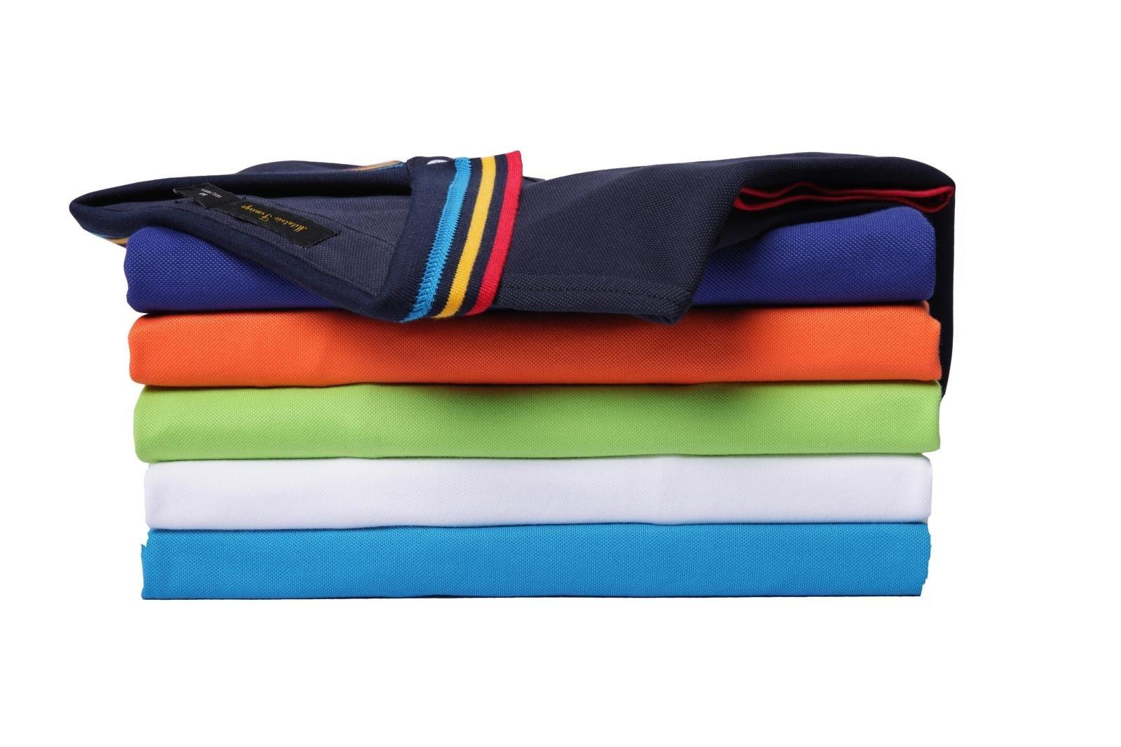 Mitario Femiego Women Classic Rainbow Collar Slim Fit Short Golf Polo Shirt Wine Red S by Mitario Femiego (Image #3)