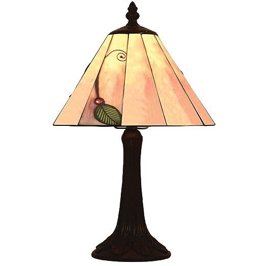 2b7b20c6d Lighting Web Co 8-inch Glass Leaf Tiffany Table Lamp, Green: Amazon.co.uk:  Lighting