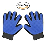 Pet Grooming Gloves,Shedding Loose Hair Remover Brush for Dog Cat,Pet Dog Cat Massage Tool & Bathing Brush for Long Short Or Curly Hair Comb,One Pair ( Left & Right Hands ) Included with Adjustable Strap …