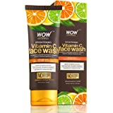 WOW Brightening Vitamin C Face Wash - No Parabens, Sulphate, Silicones, Color & Synthetic Fragrance - 100mL