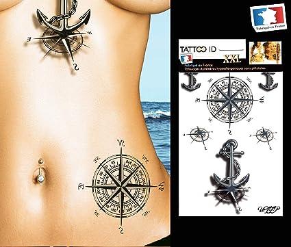 Tattoo ID - Tatuaje marquesino tribal maorí, grande, temporal e ...