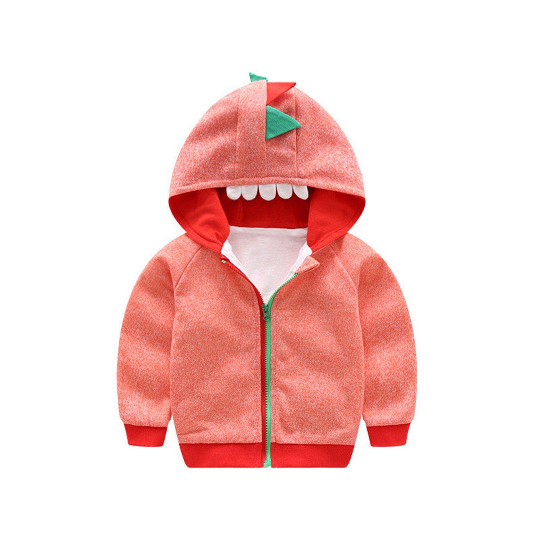 Samuel Roussel Autumn New Cotton Cute Cartoon Dinosaur Girls Coat Boys Hoodies Kids Clothes 0-3Y