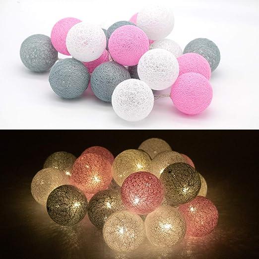 Bolas de algodon con luz