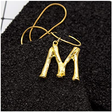 minghua large initial necklace gold big letter script name pendant monogram necklace for women gift