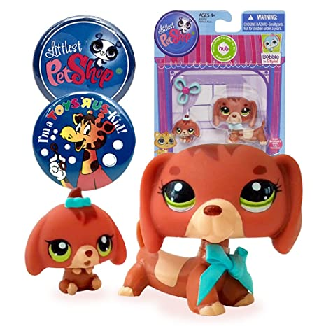 Amazon Com Littlest Pet Shop Pet Dachshund And Baby Dog 3601 With