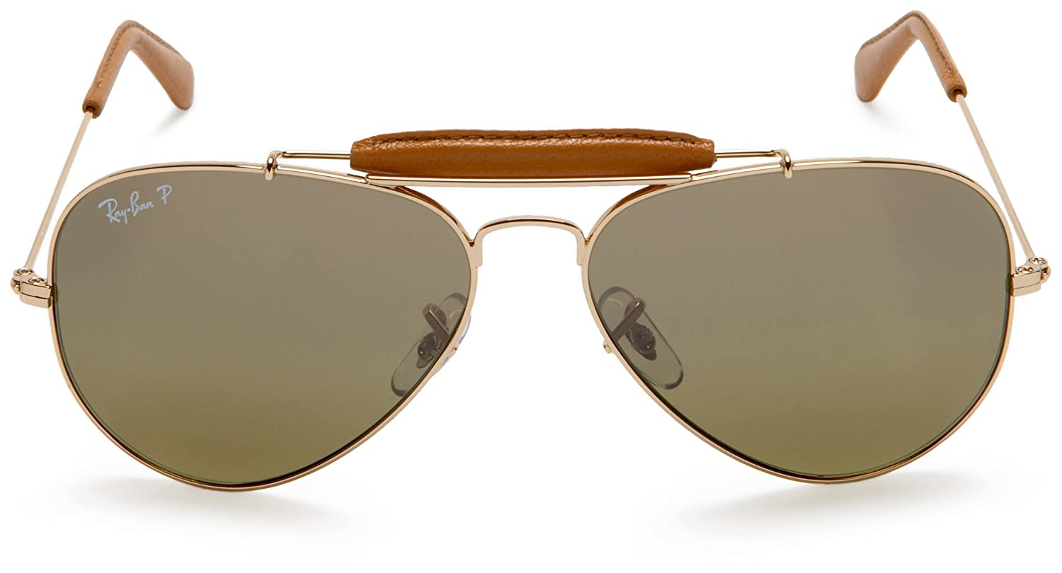 RAYBAN Herren Sonnenbrille Outdoorsman Craft, Braun (Leather Brown ...