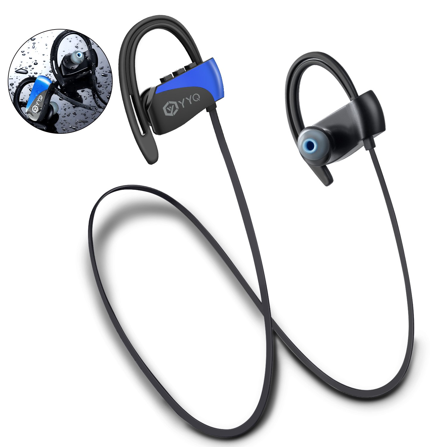 Bluetooth Headphones, Wireless Magnetic Earbuds Sports Sweatproof Earphones Stereo and Noise Cancelling for Gym Workout