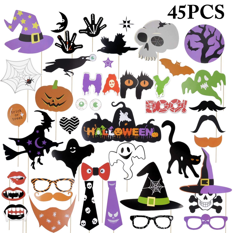 Foto Requisiten, Funpa 45 Stücke Halloween Foto Requisiten Partei Dekoration  Photobox Accessoires Photo Booth Props