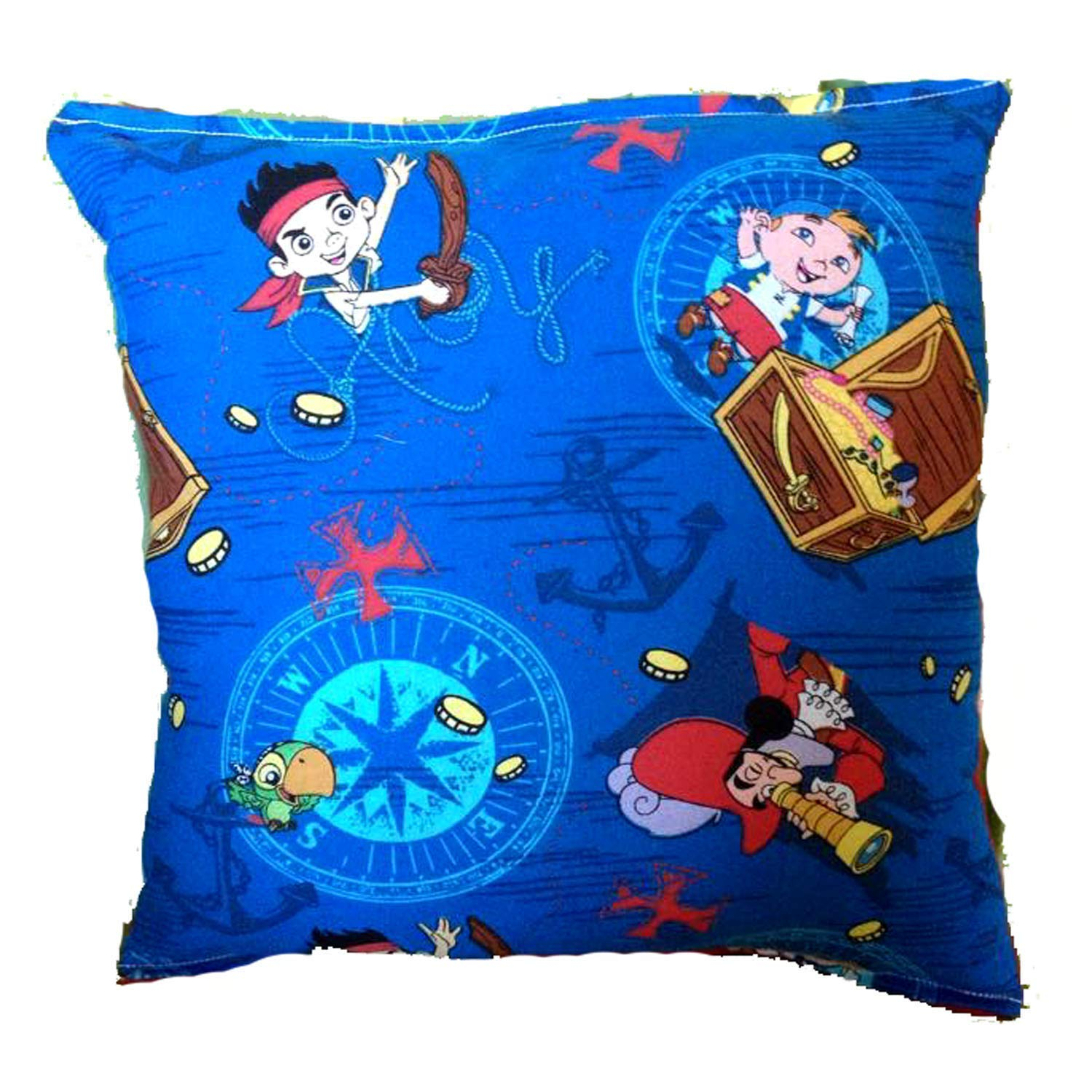 Jake Pillow Jake and the Neverland Pirates Pillow 10 inches by 11 inches Handmade Hypoallergenic Cotton with Flannel Backing Ideal for Gift and Multiple Uses