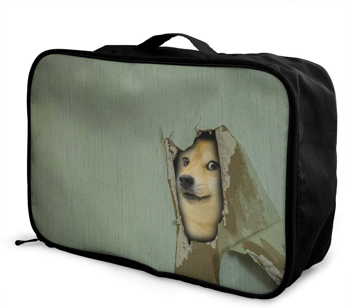 Doge-memes Travel Carry-on Luggage Weekender Bag Overnight Tote Flight Duffel In Trolley Handle