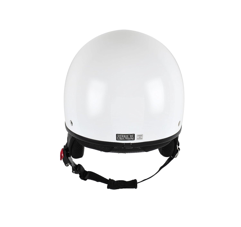 Black 55//56 cm BHR 94164 Demi-Jet Helmet Model 802 With Hidden Visor S