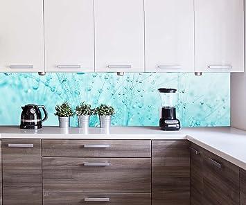 Kuchenruckwand Pusteblume Turkis Nischenruckwand Spritzschutz Design