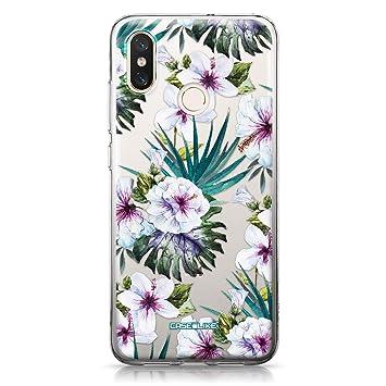 CASEiLIKE® Funda Mi 8, Carcasa Xiaomi Mi 8, Flor Hawaiana Tropical 1802, TPU Gel Silicone Protectora Cover