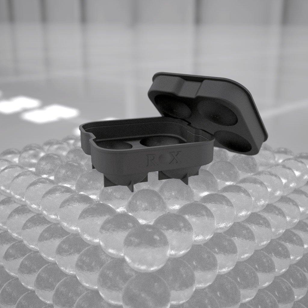 Cubitera para hielos redondos Rox Original. El mejor molde para bolas de hielo con capacidad para 4x4.5cm, en negro (Pack individual Rox): Amazon.es: Hogar