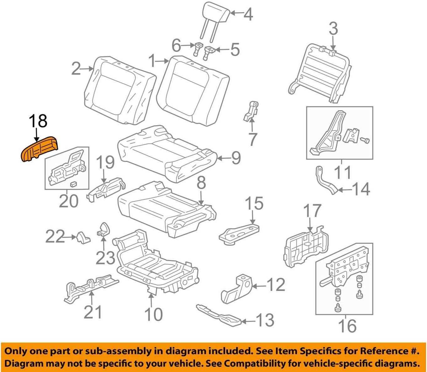 Right Rear Honda Genuine 82151-SV1-L23ZE Seat Back Side Trim Cover