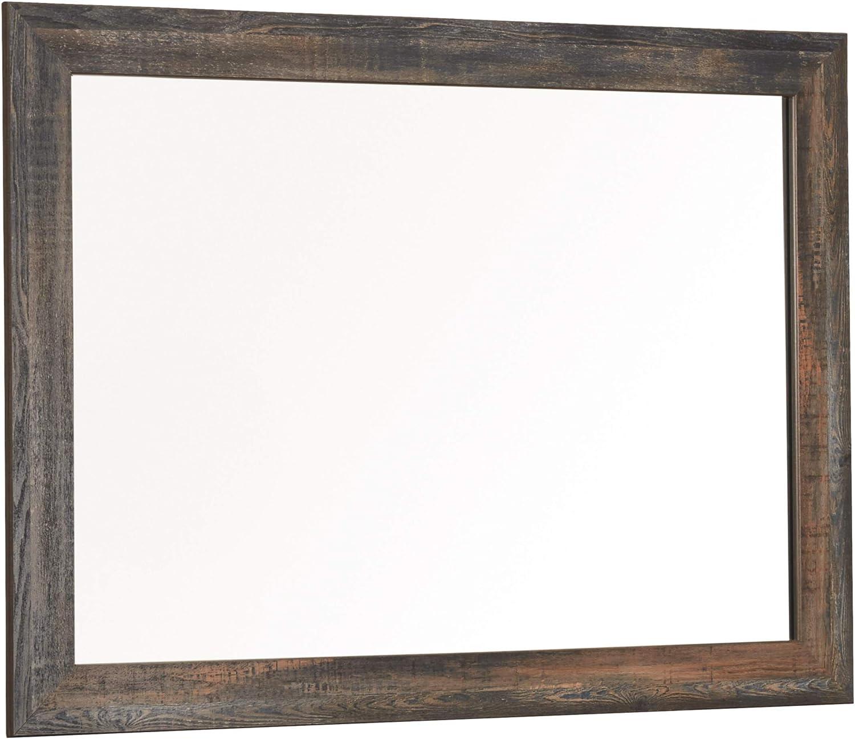 Signature Design by Ashley Drystan Bedroom Mirror, Rustic Brown, Multi