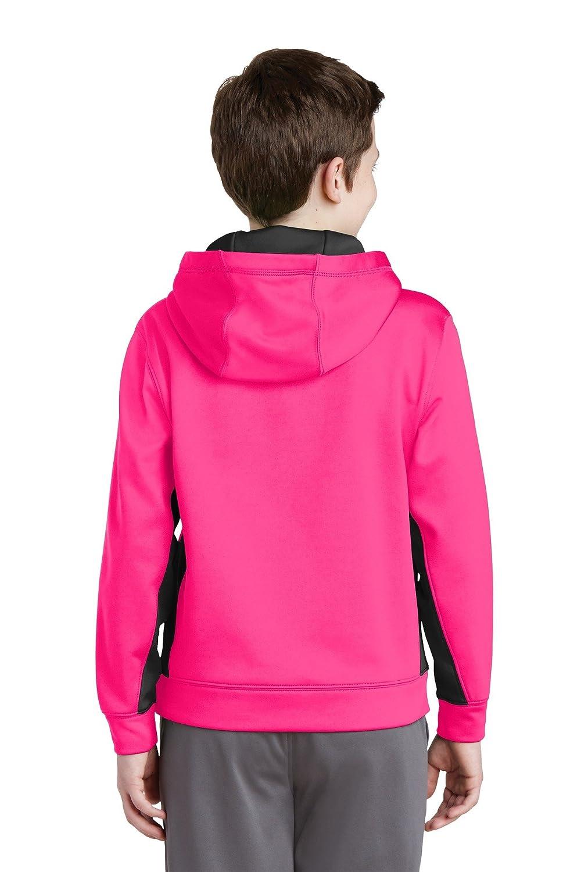 Sport-Tek Boys Fleece Colorblock Hooded Pullover YST235