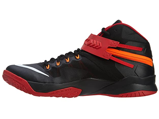 meet 428b0 8aaa4 Amazon.com   Nike Men s Zoom Soldier VIII Basketball Shoe Black Red White  Size 9 M US   Basketball