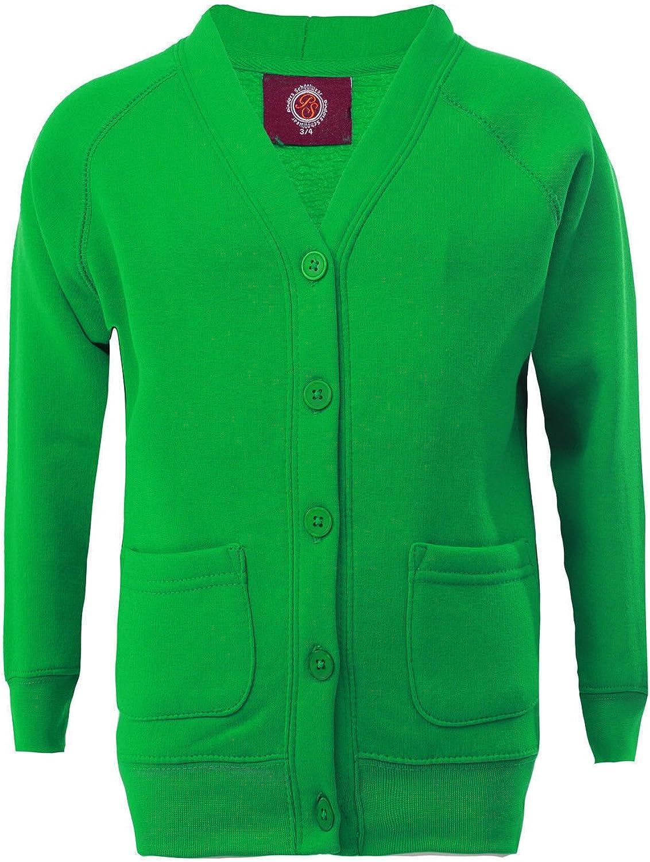 Elegant Vaps Girls School Button Up Cardigan Knitted Jumper Ladies Fleece Cardigan 3-13 Years