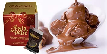 Magia Dulce Luxury Chocolate Gift Box for Valentines day Covered Prunes with Milk Caramel filling Artisan