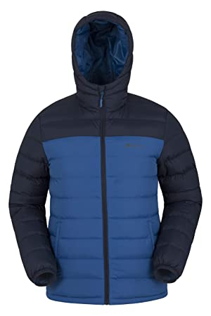 e2a8fd2c9 Mountain Warehouse Season Mens Padded Jacket - Water Resistant Jacket,  Lightweight, Warm, Lab Tested to -30C, Microfibre Filler -for Travelling,  ...