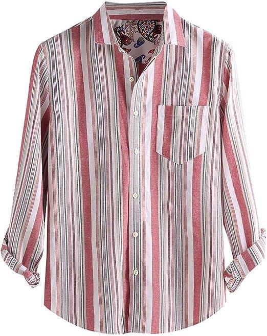 Camisas Hombre MISSWongg Algodón Ligeros Transpirables Verano ...