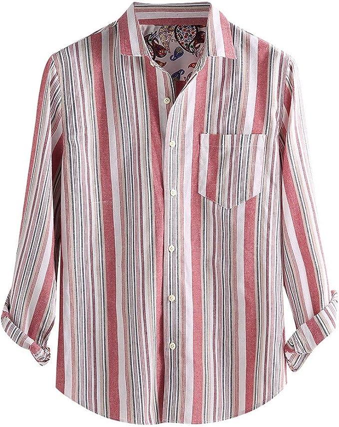 Camisas Hombre MISSWongg Algodón Ligeros Transpirables ...