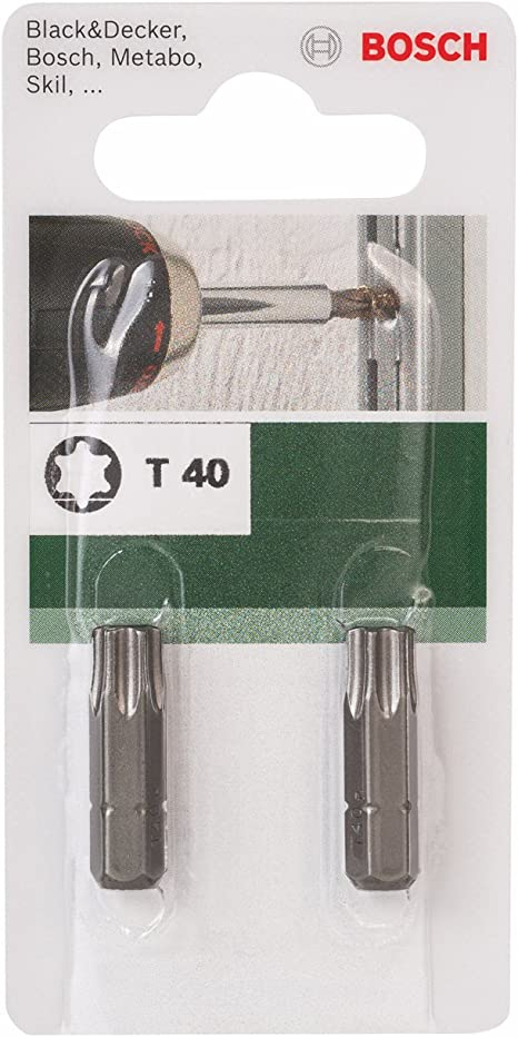 Bosch 2 609 255 938 Punta de destornillador est/ándar T pack de 2