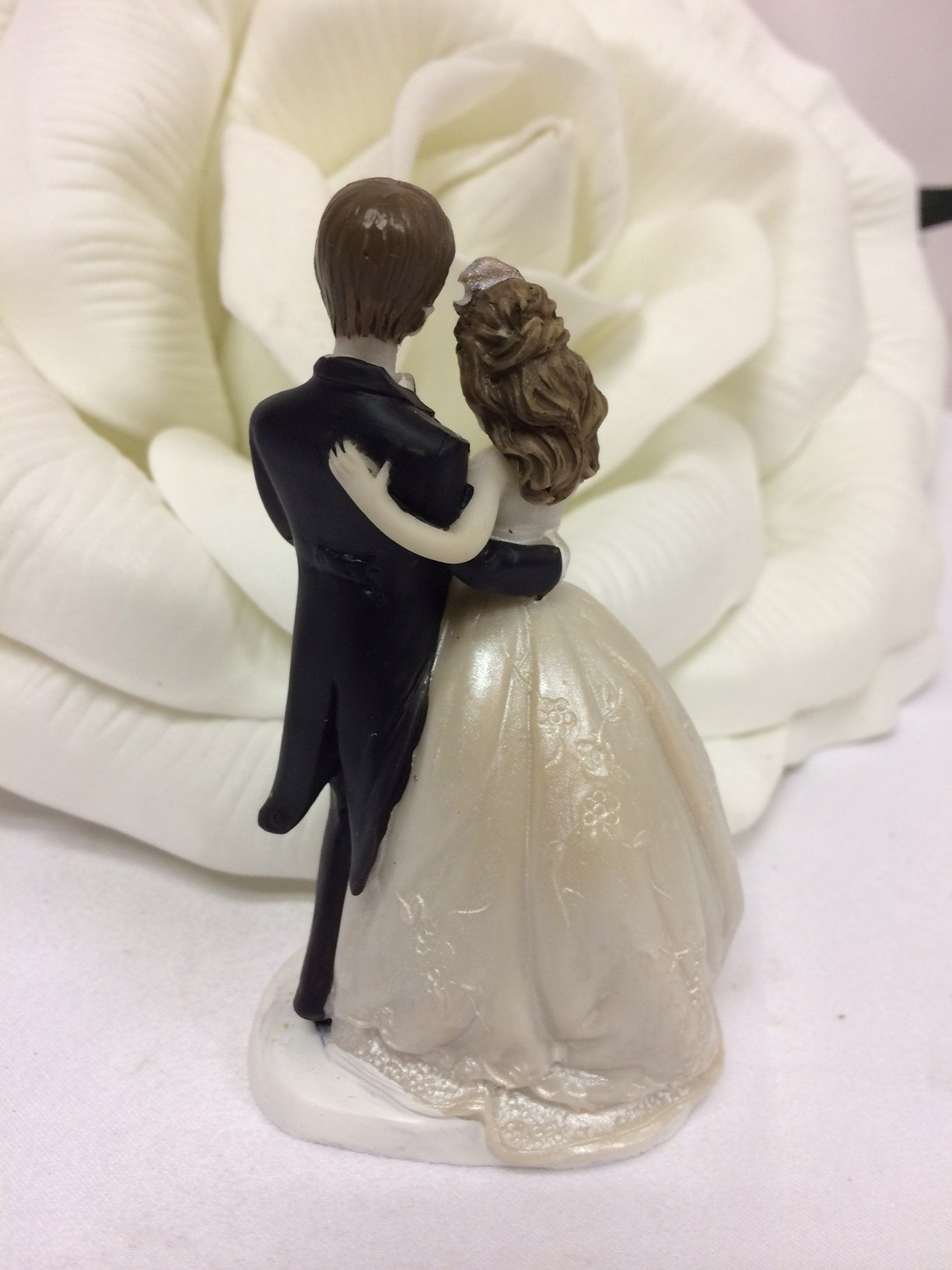 48 Wedding Bride and Groom Couple Favor Cake Topper Figurine by onlinepartycenter (Image #2)