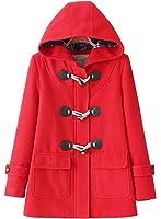 (アザブロ ガール)Azbro Girl レディース スタイリッシュ 通学 フード付き ホーンボタン ダッフル ポケット付き コート