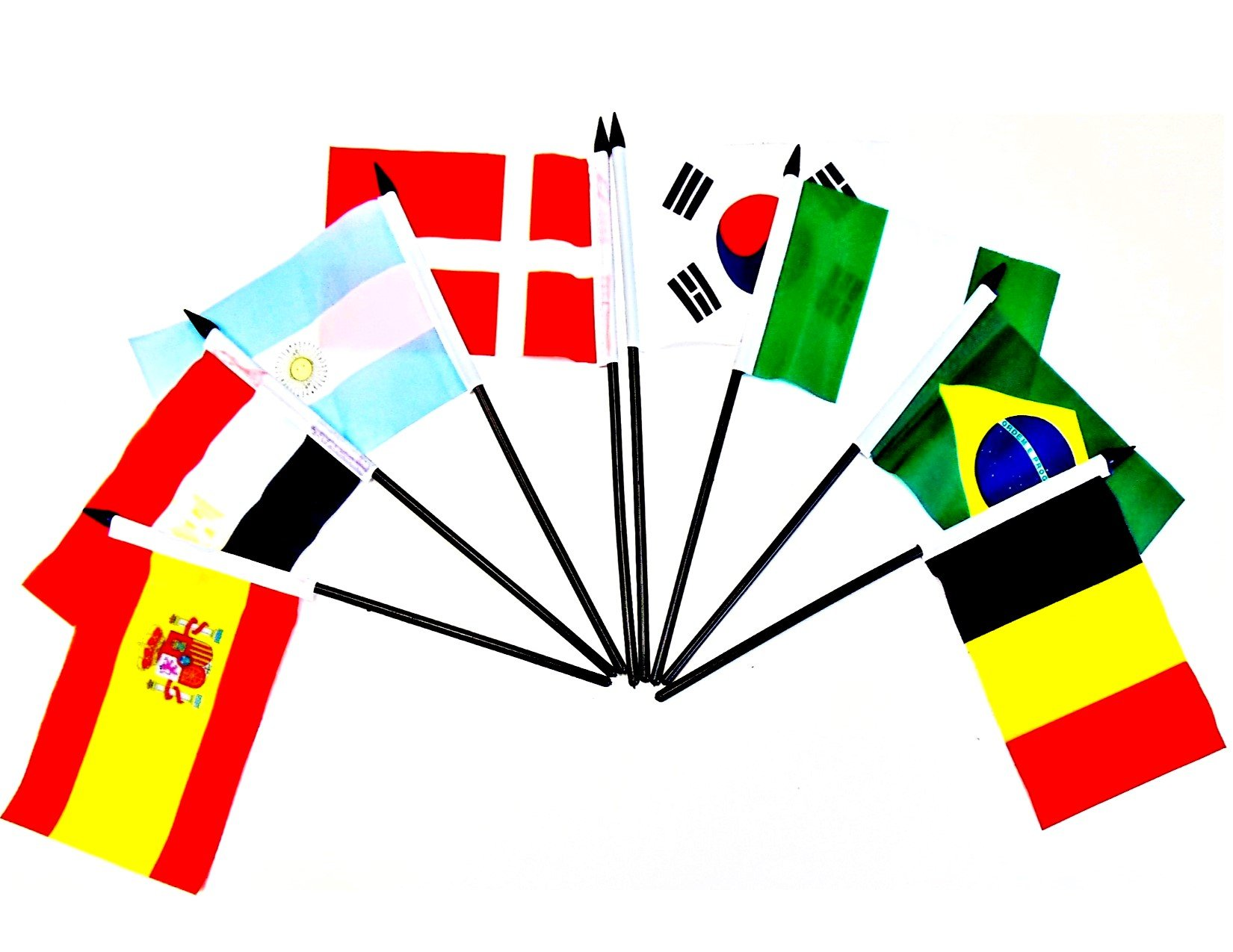 WORLD CUP 2018 SOCCER FLAGS 2018- SET of 32 Polyester 4''x6'' Flags, One Flag for Each Team Competing For the Cup, 4x6 Miniature Desk & Table Flags, Small Mini Stick Flags by World Flags Direct (Image #5)