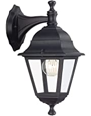 Massive Wall light - outdoor lighting (Wall, AC, E27, Black, Aluminium, Glass, IP44, 220-240 V)