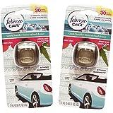 Febreze Car Vent Clips Air Freshener and Odor Eliminator, Greek Seaside - 2 Pieces