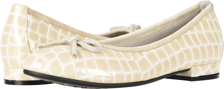 David Tate Womens Glow Croc B07492HY84 7 AA US|Bone Croc Glow Print f72be0
