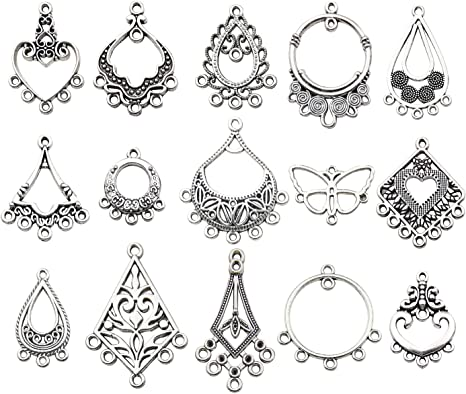 Tibetan Silver Charms Holes Earring//Necklace Connector Pendant Crafts Making