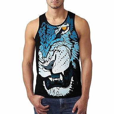 d5b6f990 Amazon.com: InterestPrint Cool Design Men's Tank Tops T-Shirt: Clothing