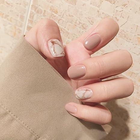 Uñas Postizas, luz de color caqui falsa uñas completo cover Nail ...