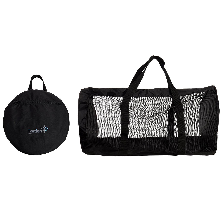 Dive Bag - Foldable Duffel Dive Bag - Compact, Durable Mesh Duffel Bag Features Storage Pouch for Diving, Scuba, Snorkel, Swim, Surf, Sports & More